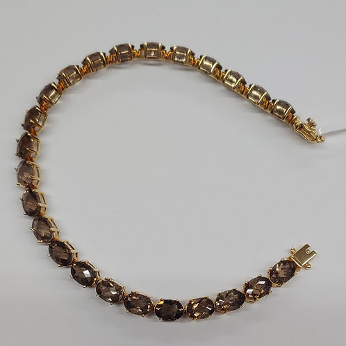 7x5 Oval Smokey Quartz Bracelet