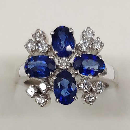 2.75 ct. Blue Sapphire Ring 14K w/g