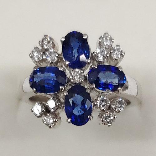 2.75 ct. Blue Sapphire Ring 14K w/g