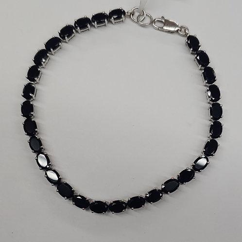 6x4 mm Oval  Gemstone Bracelet in Sterling Silver