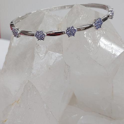 1.5 ct. Tanzanite  Bangle Bracelet in Sterling Silver