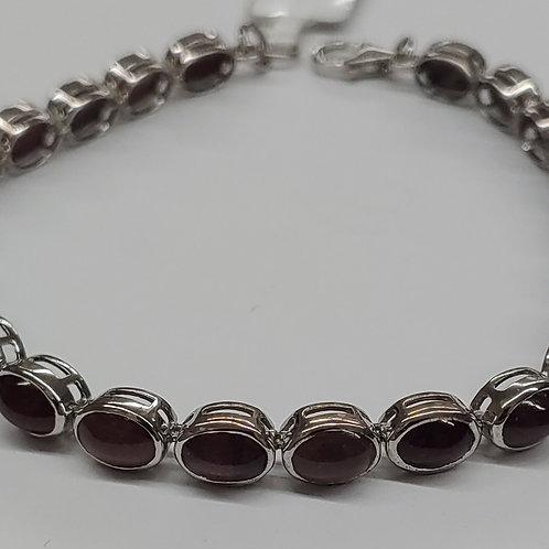 7x5 Oval Spodolite Bracelet in S.S.
