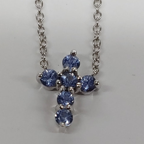 Tanzanite Cross Pendant