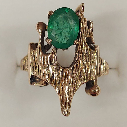 2.5 ct. Columbian Emerald Ring 14K y/g