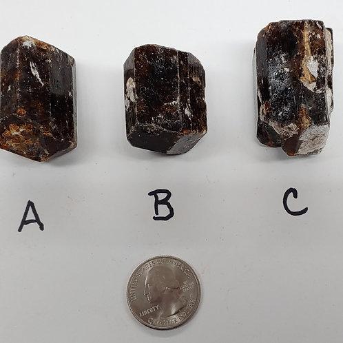 Dravite Tourmaline Rough Crystal