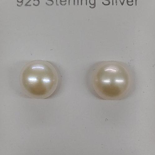 White Pearl Earrings S. S.