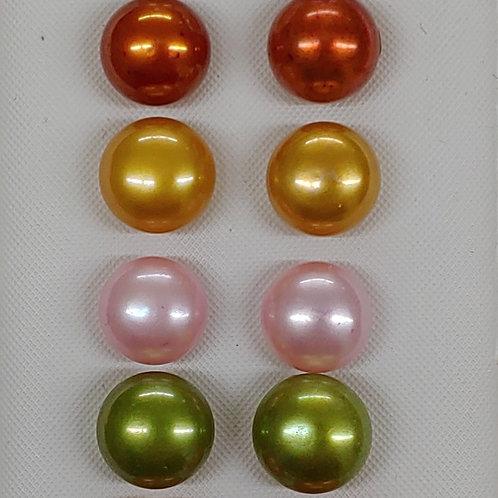 Set of 8 Pearl Earrings S. S.