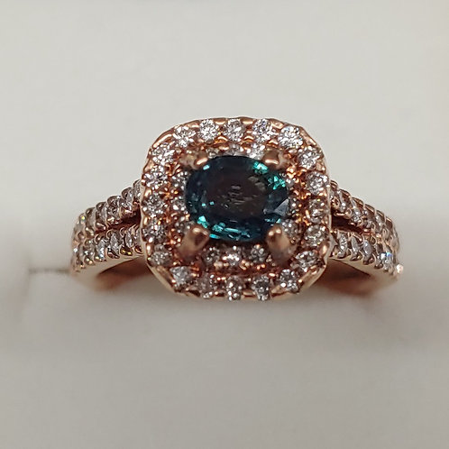 1.25 ct. Alexandrite Ring 14K Rose Gold