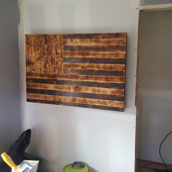 Custom Burnt Oak Wall Flag