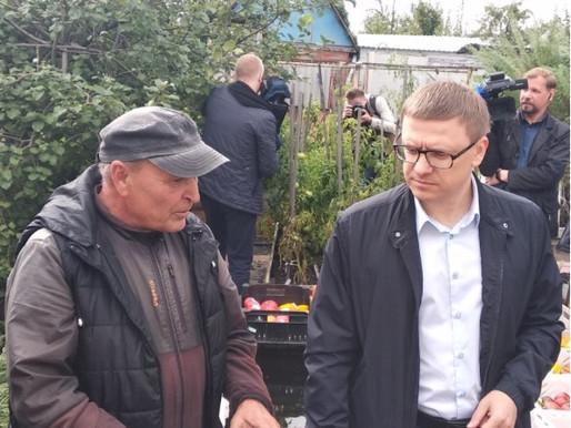 """Глава региона Алексей Текслер посетил садовое товарищество """"Искра"""""""