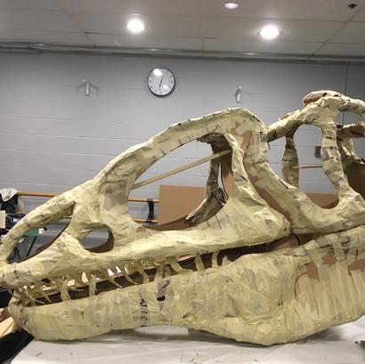 Dino Skull Sculpture