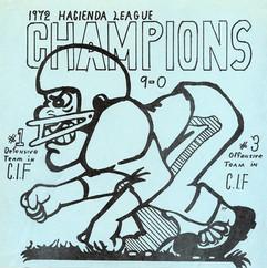 WHS 1972 Football League Champs program.