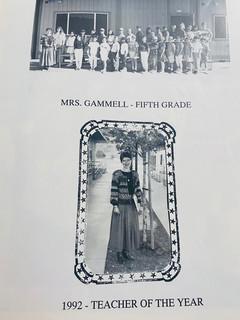1991 Mrs, Gammell Teacher of the Year.jp