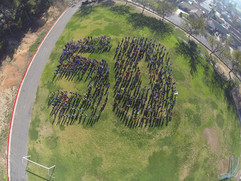 Collegewood students form 50 for 50th an