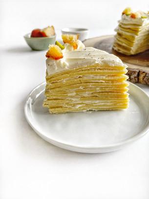 Gulab Jamun Mille Crepe Cake
