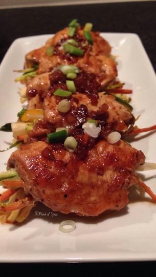 Maple Glazed Chicken Rolls