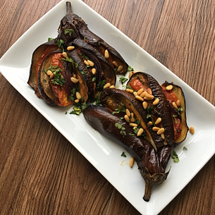Roasted Aubergine (Eggplant) Fan