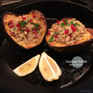 Couscous Stuffed Acorn Squash