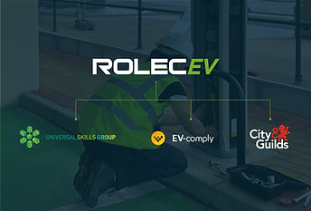 A complete nationwide EV chargepoint installation course, delivered by Rolec, Universal Skills Group & EV-comply