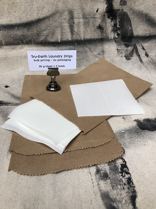 Laundry Strips (unscented) - bulk sheets