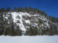 Sun Demon ice at Mt. Ruban