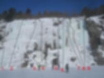 Granary Lake ice climbing routes