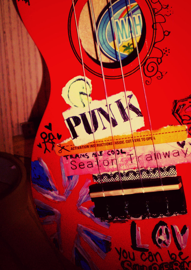Punk painted ukulele