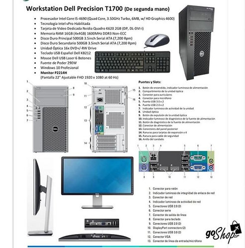 Workstation dell Precision T1700 (segunda mano)