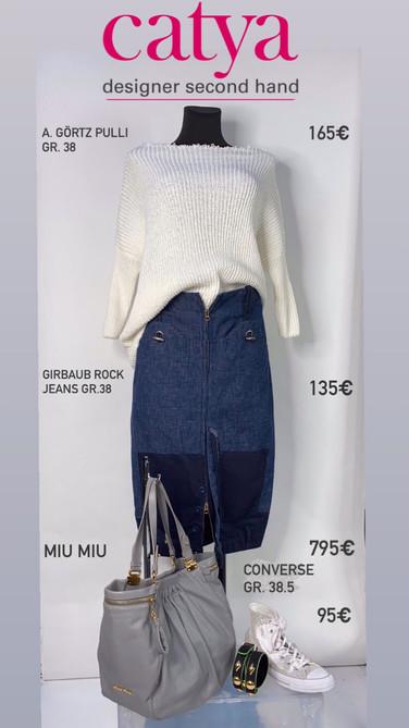 Miu Miu Tasche blau grau
