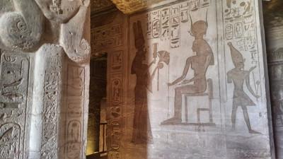 Inside of Abu Simbel temple - Egypt