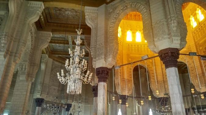 Inside of Abu Al Abas Al Mursi  mosque - Egypt
