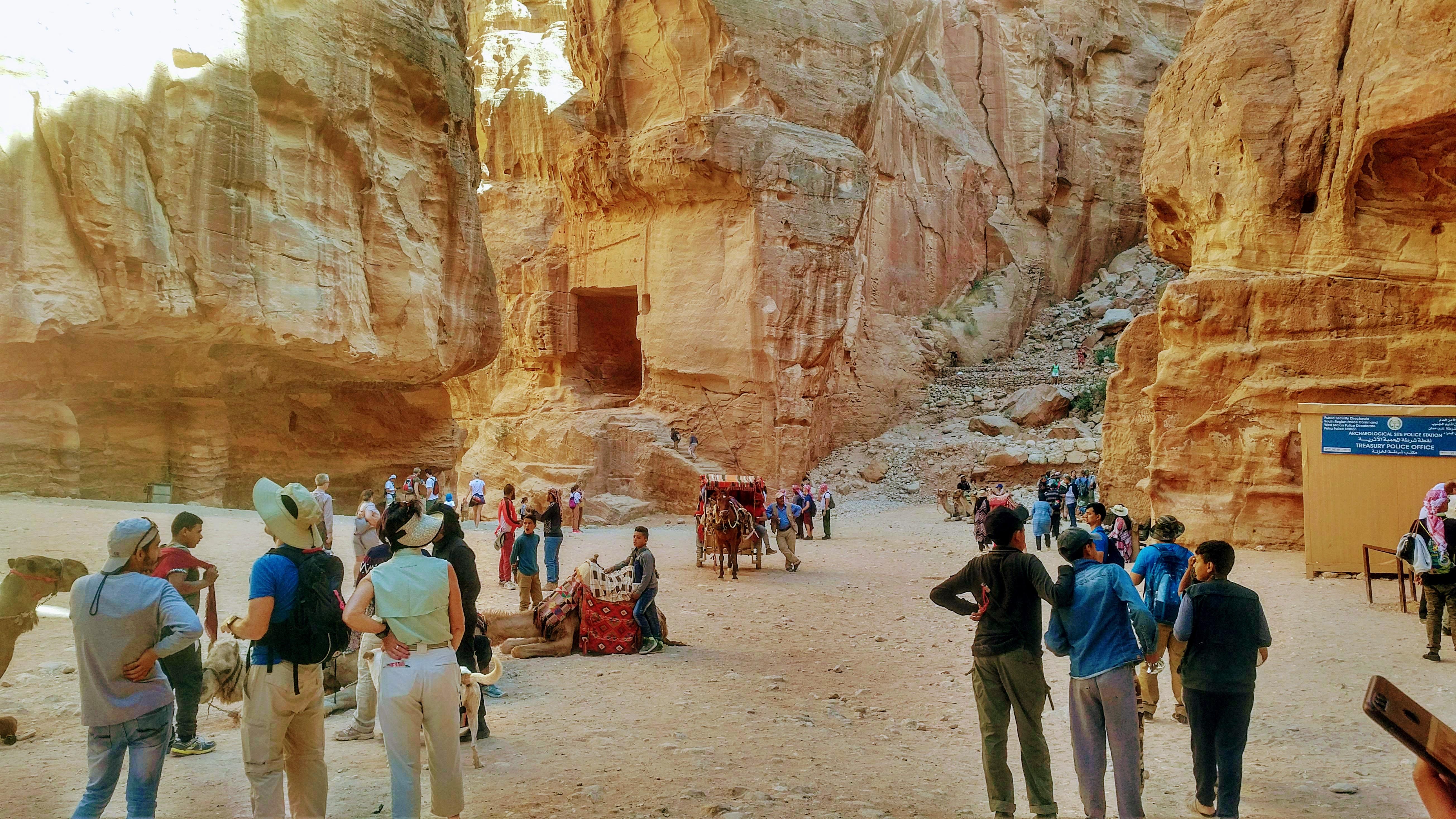 Tourism in Petra site