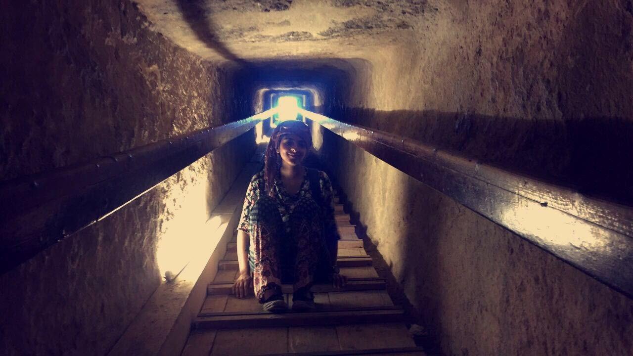 Inside pyramids