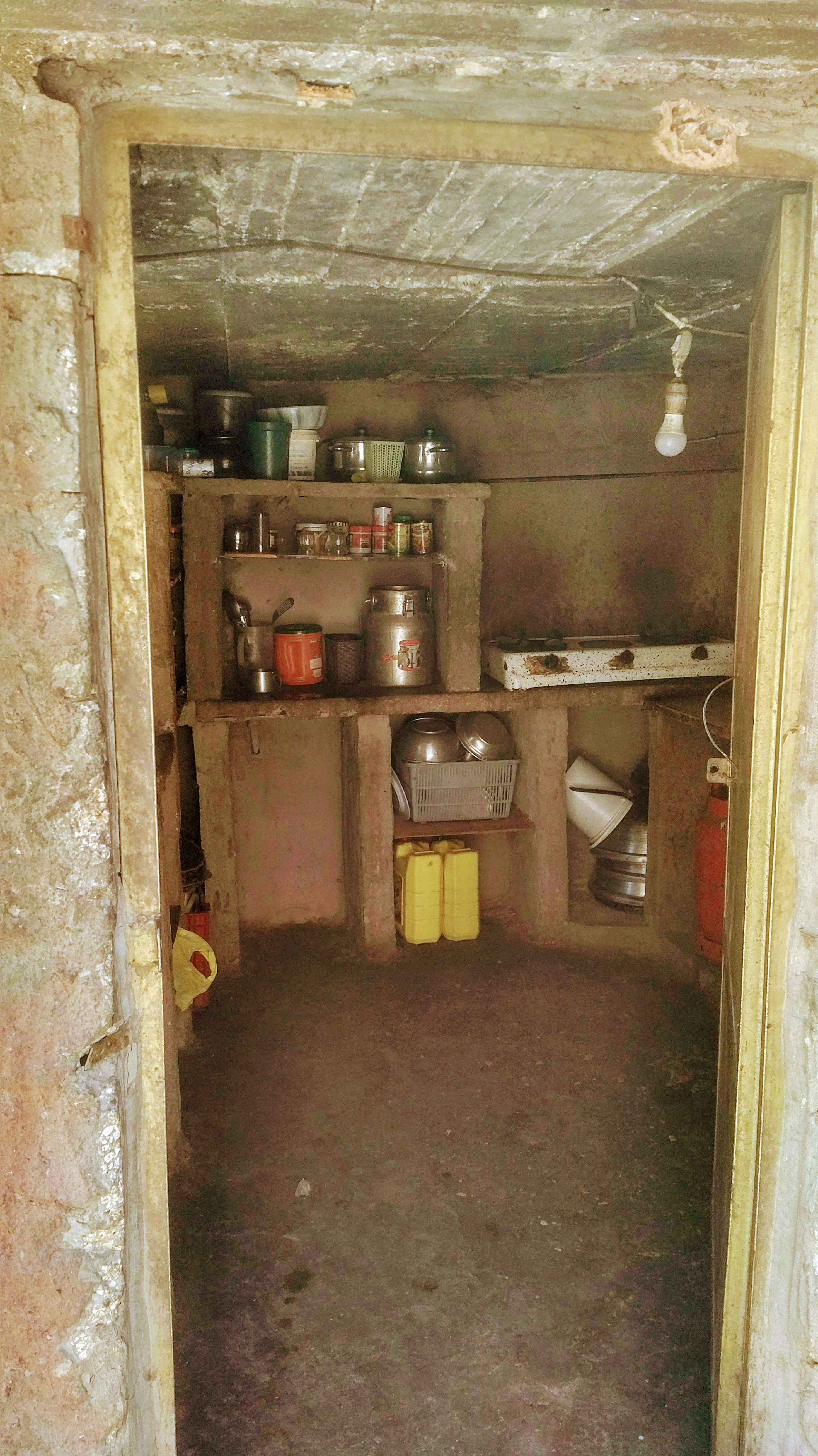 Kitchen in cave