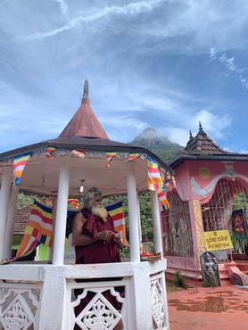 Monk on the way to the Peak of Adam - Sri Lanka