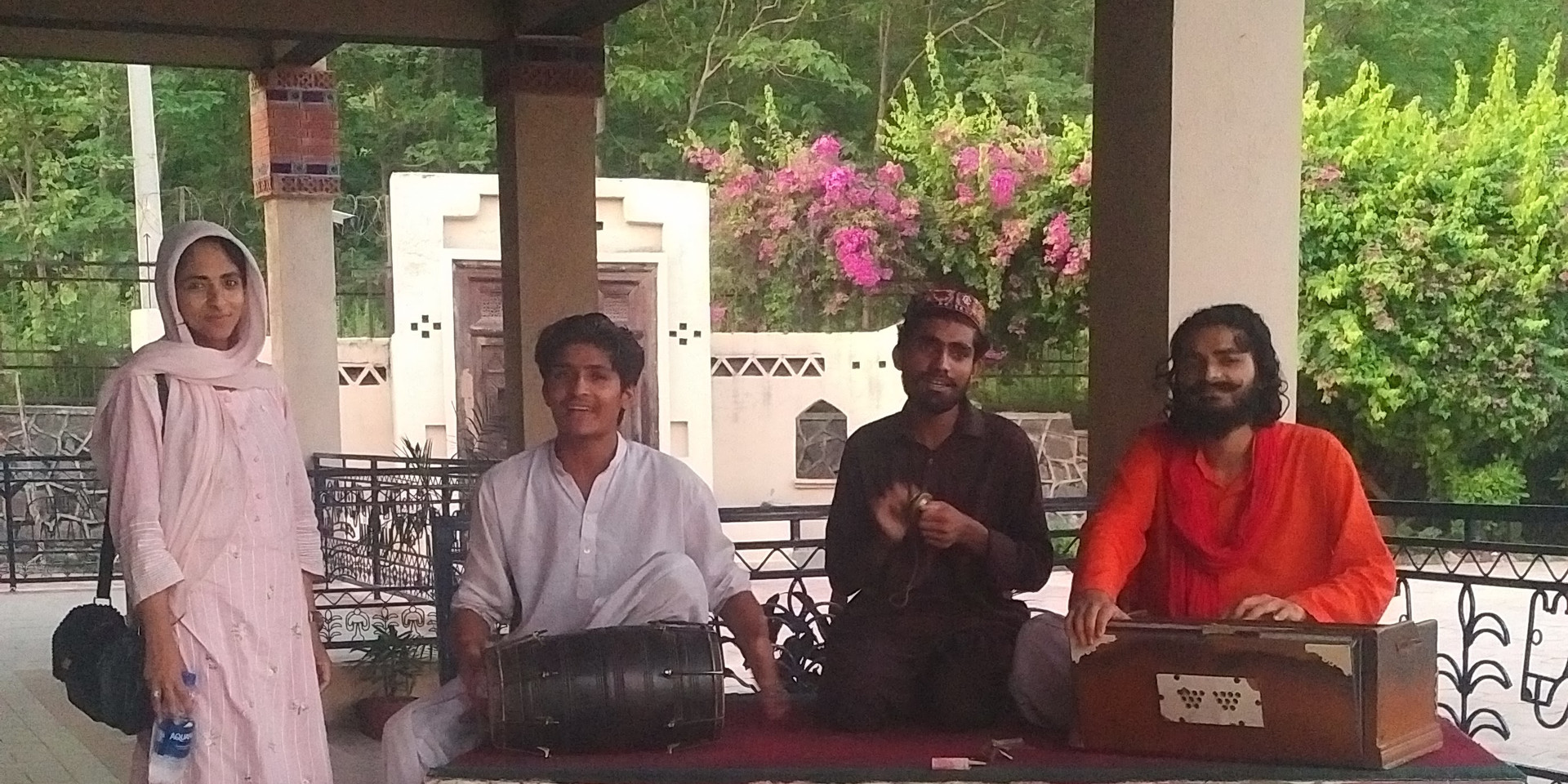 Sufi playing Qawali