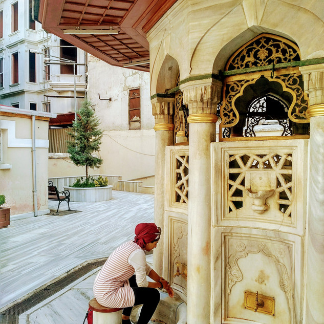 Ottoman wudhu eara in Istanbul