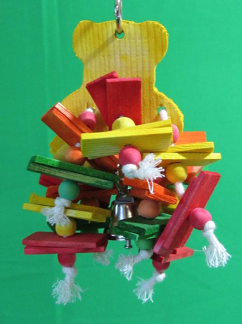Dangling Bear Bird Toy, Small