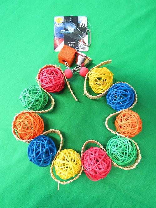 Vine Ball Braided Wreath