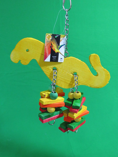 Featherland Paradise Dino-Licious Bird Toy, Medium