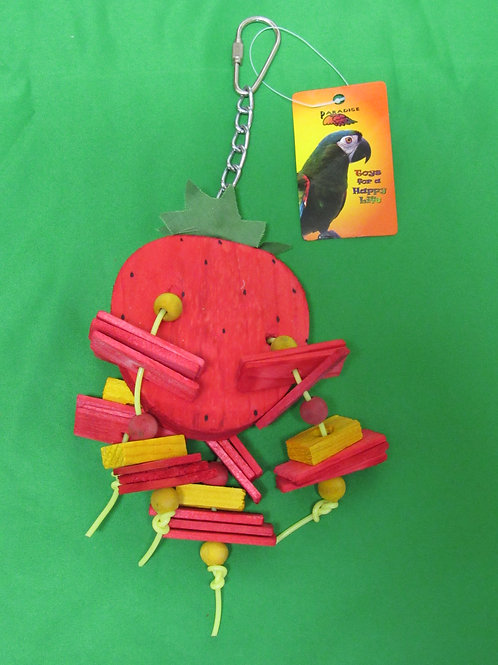 Strawberry Bird Toy, Small