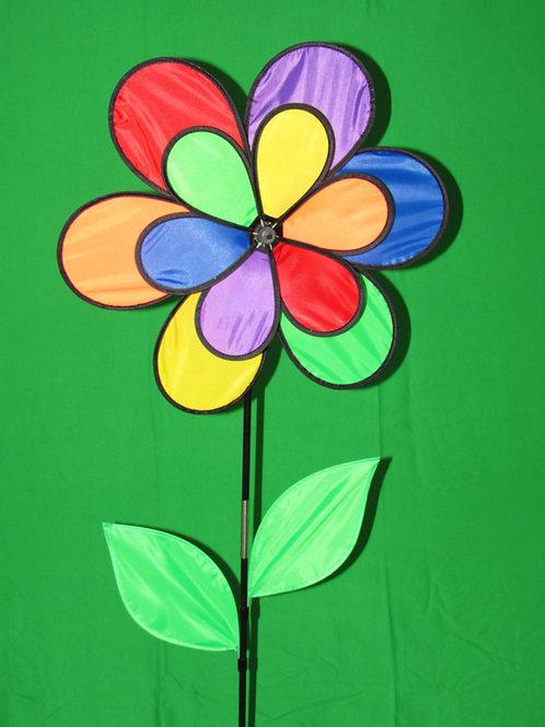 "Double Daisy 19"" Wind Spinner"