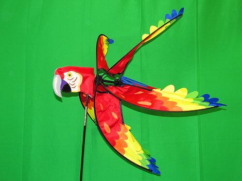 "Scarlet Macaw 39"" Wind Spinner"