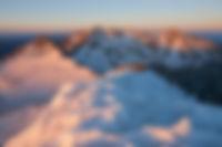 Sunrise from Wilson Peak, Lizard Head Wilderness, Colorado