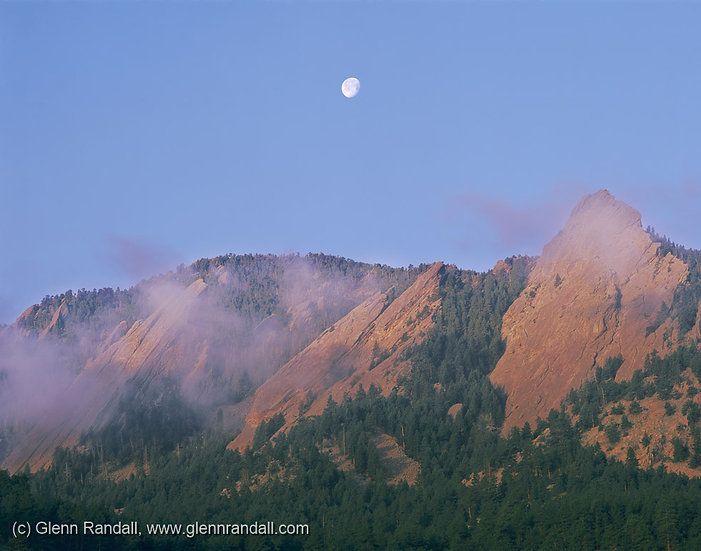 Full Moon over the Flatirons, Boulder Mountain Parks, Colorado