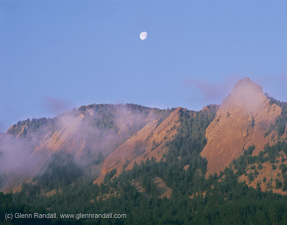 Full Moon over the Flatirons, Boulder Mountain Parks, Colorado