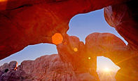 Double Arch at Sunset, Arches National Park, Utah