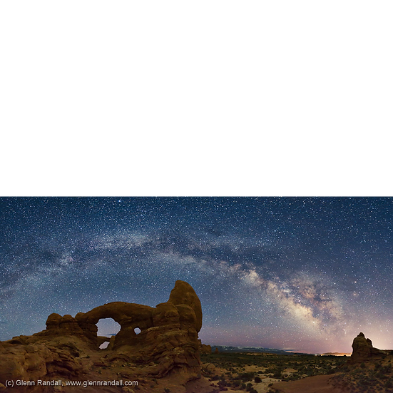 Milky Way Panorama over Turret Arch
