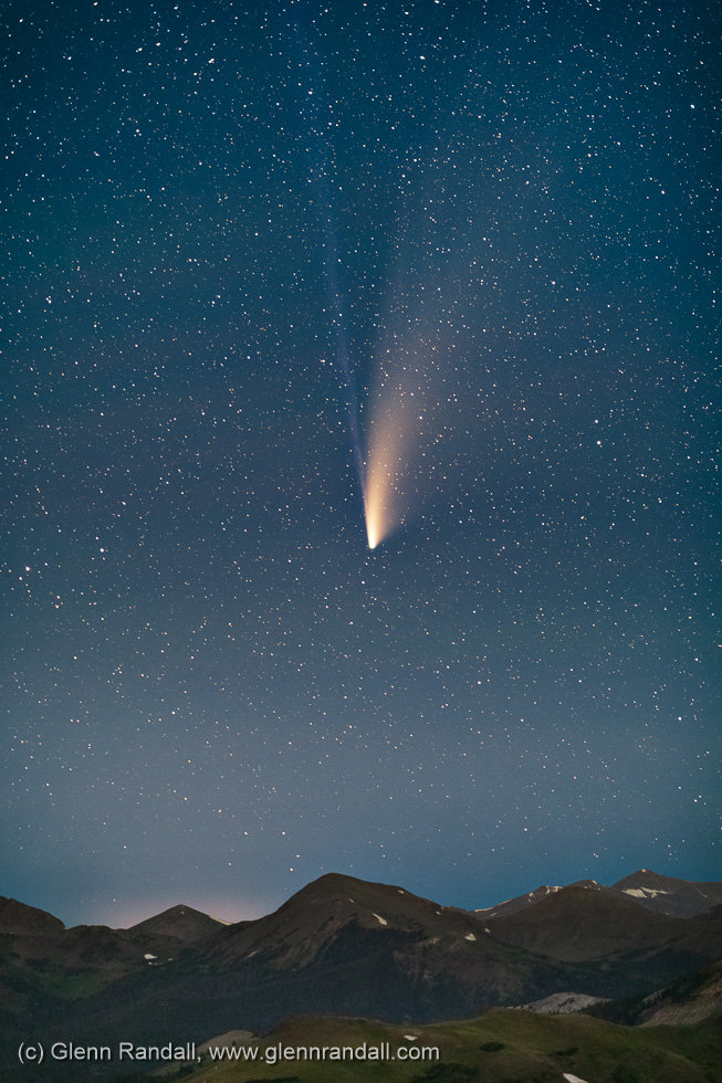 Comet Neowise over the Never Summer Mountains, Rocky Mountain National Park, Colorado