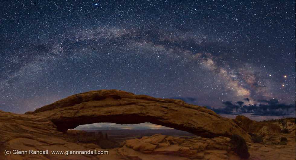 Milky Way over Mesa Arch, Canyonlands National Park, Utah